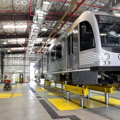 Metro Division 21 Maintenance Facility Train Repair Body Shop